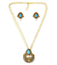 Buy Turquoise gold plated pendants Pendant online