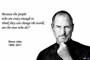 Entrepreneurship steve jobs motivational 1 poster