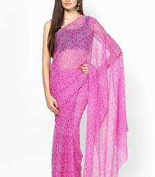 Pink Chiffon Bandhej Saree