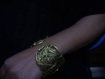 jumbled wire bracelet