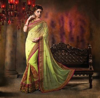 74e12f606e Designer embroidery saree TRENDZ Women's Ethnic Wear Diwali sarees Special  - TRENDZ - 261652