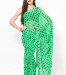 Buy Green Jaipuri Booti Print Saree printed-saree online