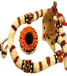 Buy White Ganesh Garland Hamper with Pooja Modak whiteganeshgarland ganesh-chaturthi-gift online
