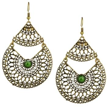 Copper onyx earrings