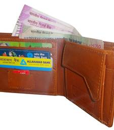 Buy Brown Leather plain wallets wallet online