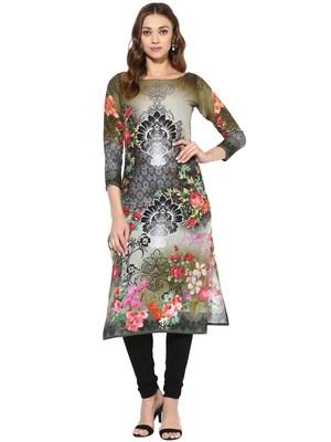 Multicolor printed Cotton stitched kurti