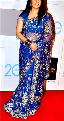 Indian Replica Ethnic Bollywood Gracey Blue Net Saree