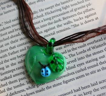 Heart Necklace - green