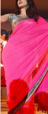 Indian Replica Ethnic Priyanka Multi Color Georgette Saree
