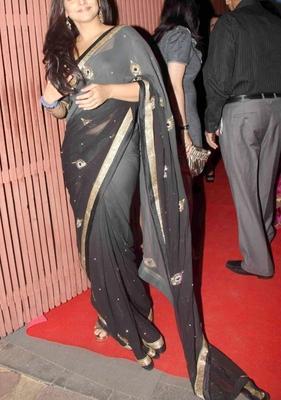 Indian Replica Ethnic Vidya Multi Color Georgette Saree