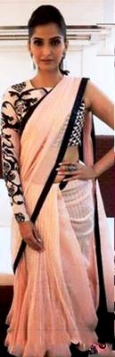 Indian Replica Ethnic Sonam Multi Color Chiffon Saree