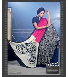 Buy Styloce Multi Color Silk SapphireDesigner Printed Saree printed-saree online