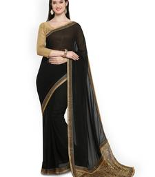 Black Embroidered Georgette Saree with Embroidered blouse