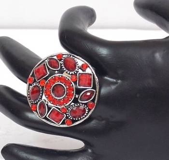 Beautiful Red Colored Stone Ring