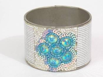 Beautiful Crafted Blue And White Colored Hand Cuff