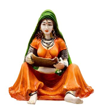 Lady with Supda (Best for Home Decoration/Office Decoration)