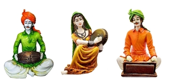 Set of 3 Rajasthani Idols for Home Decor/Decor/Gifting Option/Best for Office Decor