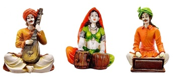 Couples Rajasthani Showpiece (Set of 3)/Decor/Gifting Option/Best for Office Decor