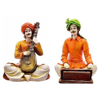 Couples Rajasthani Showpiece (Set of 2)/Decor/Gifting Option/Best for Office Decor