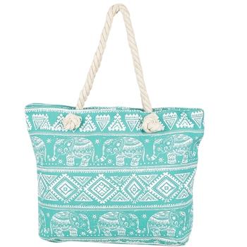Fantastic Blue Contemporary Print Handbag