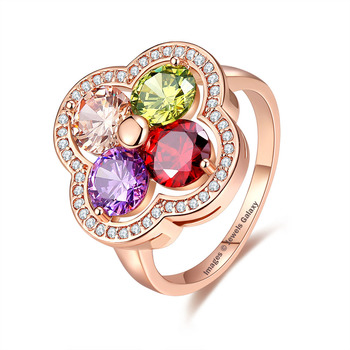 Multicolor crystal rings