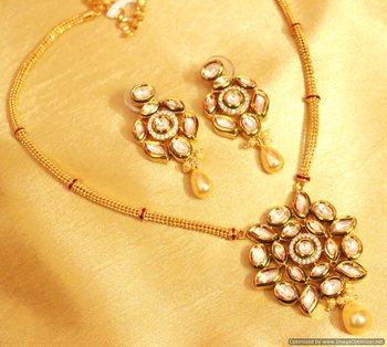 Kundan Meenakari Fusion Necklace Set