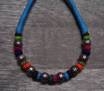 cool turquoise silver bead necklace