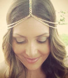 Buy Gold chains mathapatti hair-accessory online