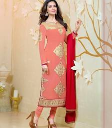 Strollay Semi-Stitched Suit with Dupatta shop online