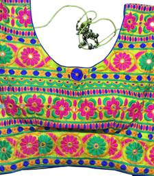 Yellow art_silk Kutchwork stitched blouse