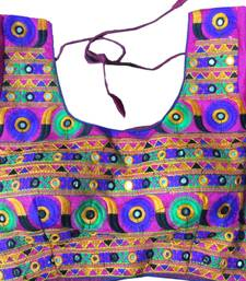 purple art_silk Kutchwork stitched blouse