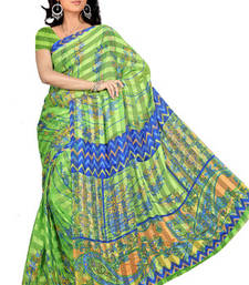 Buy Saraswati Printed satin patti printed-saree online