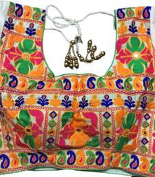 White art_silk Kutchwork stitched blouse