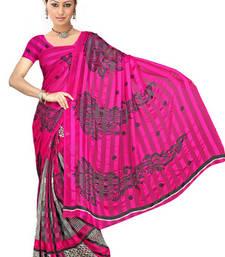 Buy Printed satin patti saree printed-saree online