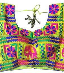 Yellow art_silk Kutchwork stitched blouse