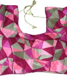 Buy pink art_silk Abstract Print stitched blouse readymade-blouse online