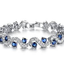 Blue swarovski crystal bangles-and-bracelets