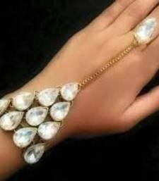 Buy Swarovski crystal kundan hathphool haath-phool-hath-panja online