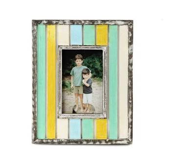 Wooden antique painted photoframes- 4 x 6