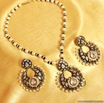 Victorian Look Meenakari Necklace Set