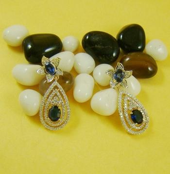 Titanic Blue Zircone Earrings