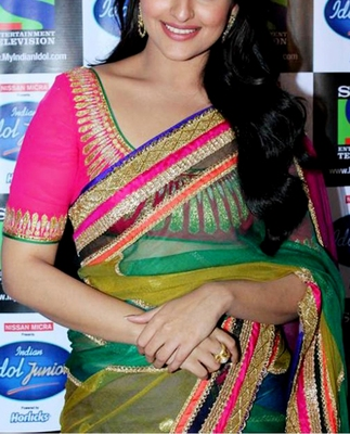 Indian Replica Ethnic Sonakshi Rainbow Net Saree