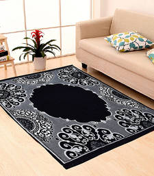 Buy Black Chenille Carpet Traditional carpet online