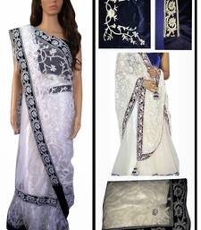 Buy Indian Bollywood Replica Ethnic Priynka White Lengha Saree priyanka-chopra-saree online