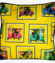 Buy Retro Taxis Poli Dupion Cushion Cover pillow-cover online