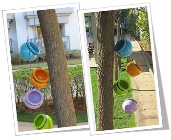 Multicolored Garden Terracotta Hanging