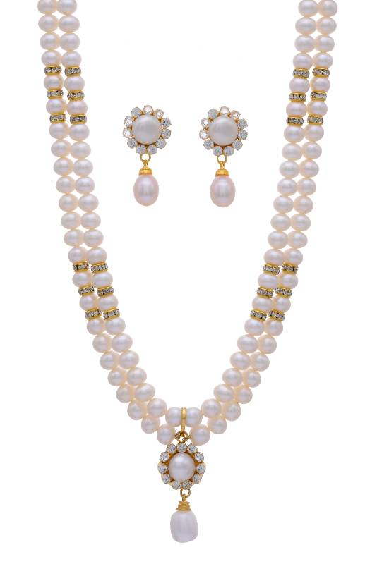 Buy Natural Pearls Double String Set From Hyderabad Online