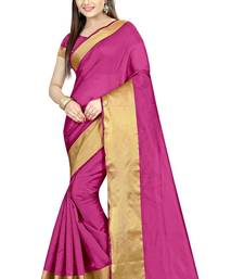 Buy Pink printed bhagalpuri cotton saree with blouse printed-saree online