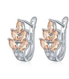 Buy Beige cubic zirconia earrings Earring online