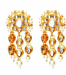 The Three Lines Kundan Earrings